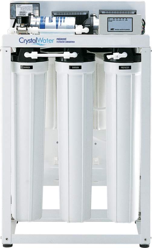 Komerčná reverzná osmóza s výkonom do 46 litrov demineralizovanej vody za hodinu