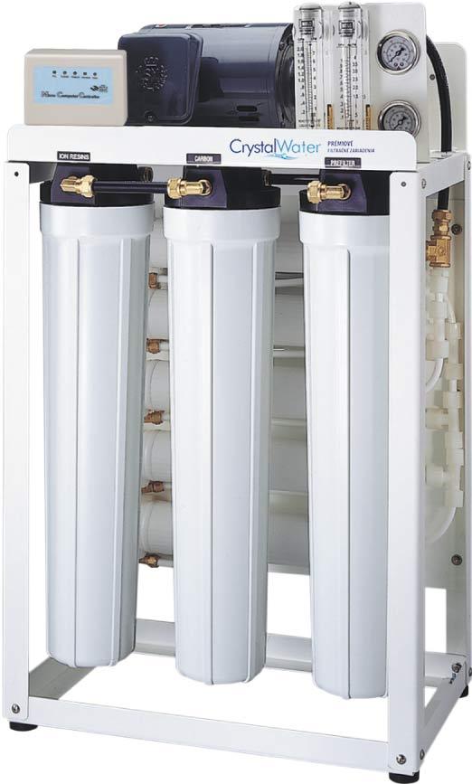 Komerčná reverzná osmóza s výkonom do 75 litrov demineralizovanej vody za hodinu
