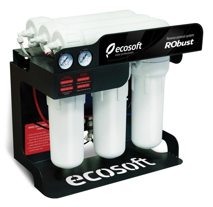 Kompaktná reverzná osmóza s výkonom do 60 litrov demineralizovanej vody za hodinu